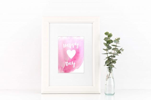 Valentine Print Mockup